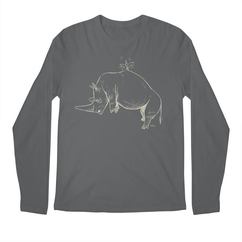 HANG IN THERE!! (light-on-dark design) Men's Regular Longsleeve T-Shirt by Dustin Harbin's Sweet T's!