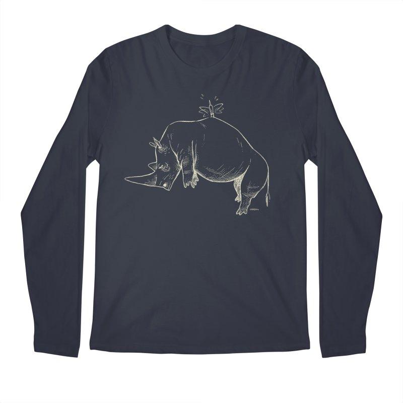 HANG IN THERE!! (light-on-dark design) Men's Regular Longsleeve T-Shirt by Dustin Harbin's Sweet T's!