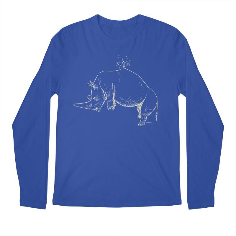 HANG IN THERE!! (light-on-dark design) Men's Longsleeve T-Shirt by Dustin Harbin's Sweet T's!
