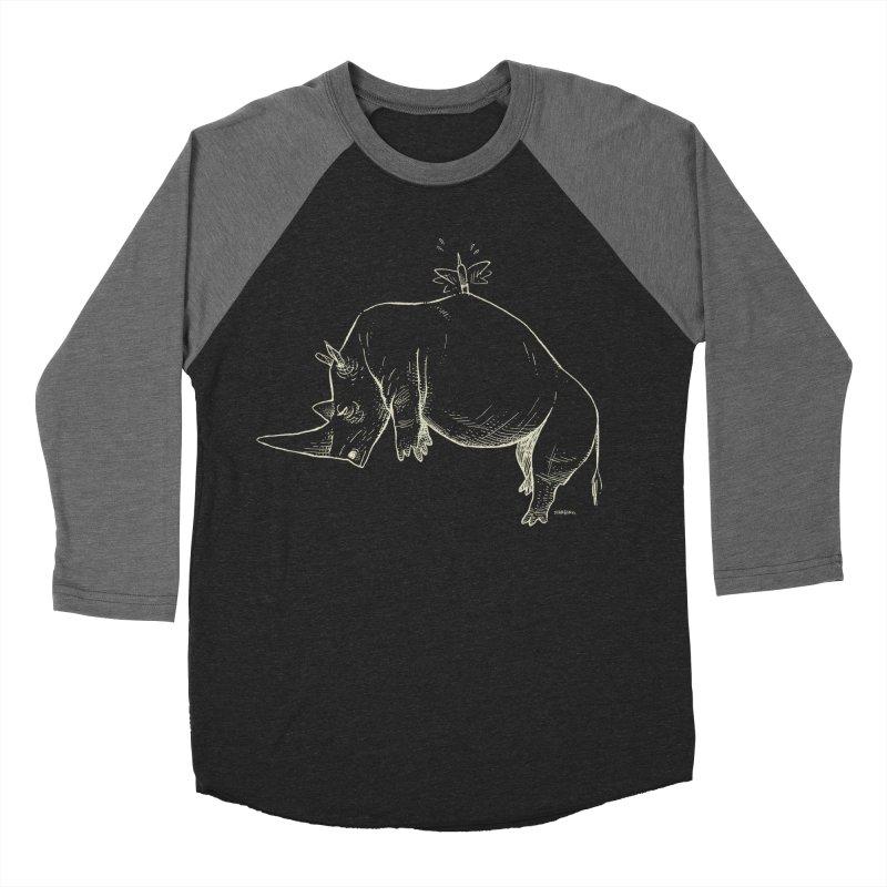 HANG IN THERE!! (light-on-dark design) Men's Baseball Triblend Longsleeve T-Shirt by Dustin Harbin's Sweet T's!