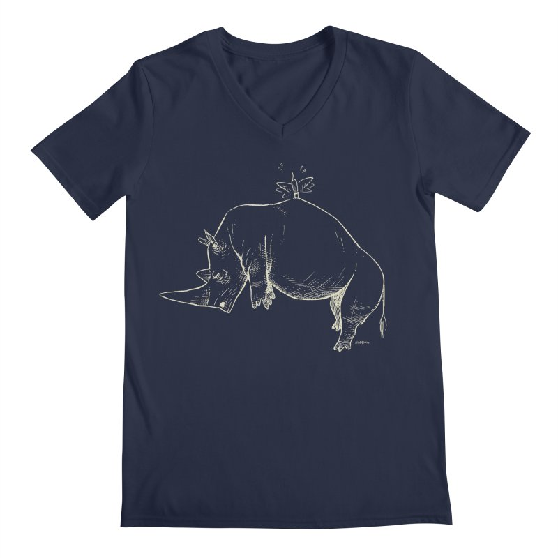 HANG IN THERE!! (light-on-dark design) Men's Regular V-Neck by Dustin Harbin's Sweet T's!
