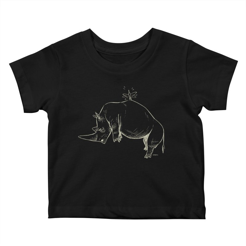 HANG IN THERE!! (light-on-dark design) Kids Baby T-Shirt by Dustin Harbin's Sweet T's!
