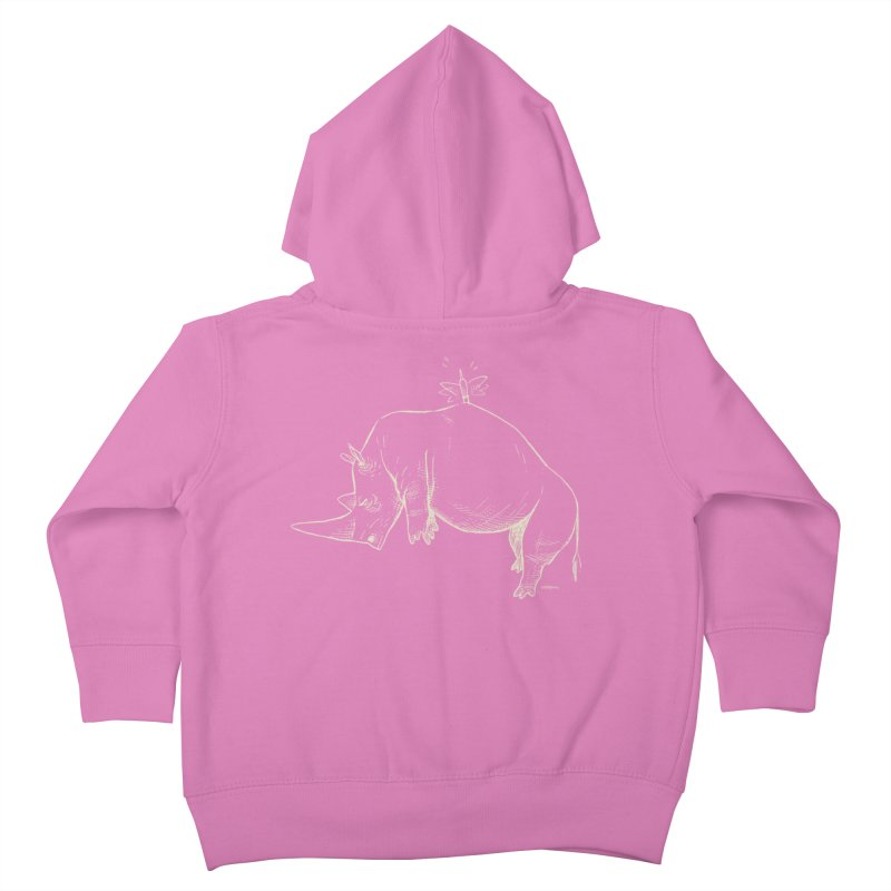 HANG IN THERE!! (light-on-dark design) Kids Toddler Zip-Up Hoody by Dustin Harbin's Sweet T's!