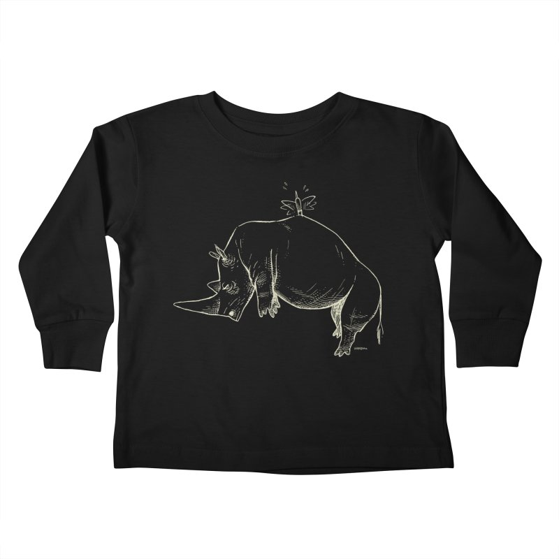 HANG IN THERE!! (light-on-dark design) Kids Toddler Longsleeve T-Shirt by Dustin Harbin's Sweet T's!