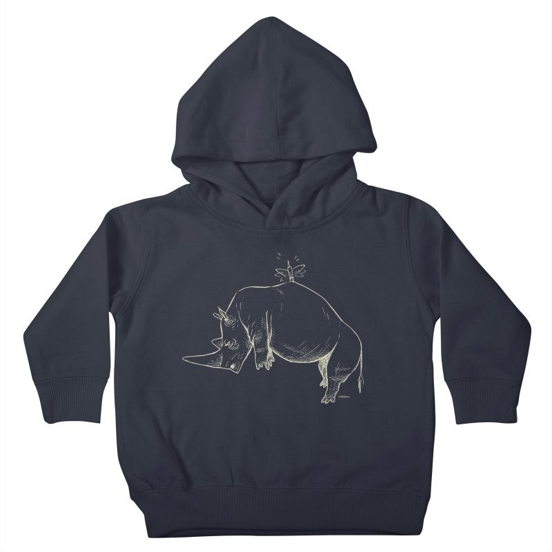 HANG IN THERE!! (light-on-dark design) Kids Toddler Pullover Hoody by Dustin Harbin's Sweet T's!