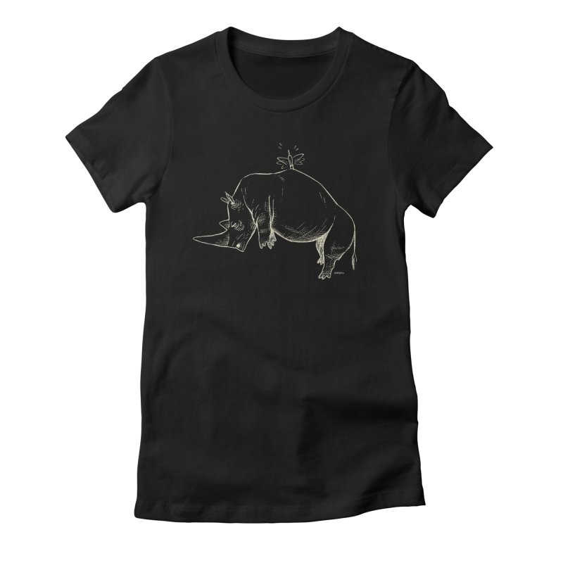 HANG IN THERE!! (light-on-dark design) Women's Fitted T-Shirt by Dustin Harbin's Sweet T's!