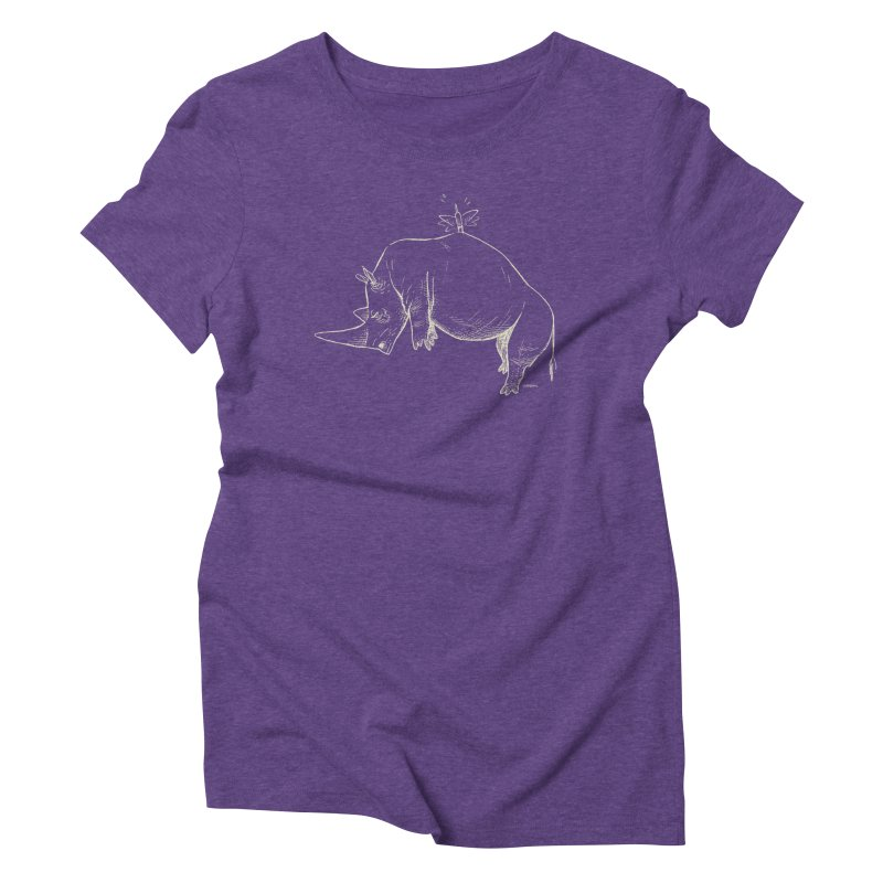 HANG IN THERE!! (light-on-dark design) Women's Triblend T-Shirt by Dustin Harbin's Sweet T's!