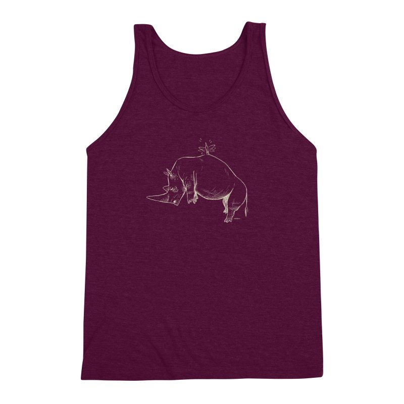 HANG IN THERE!! (light-on-dark design) Men's Triblend Tank by Dustin Harbin's Sweet T's!