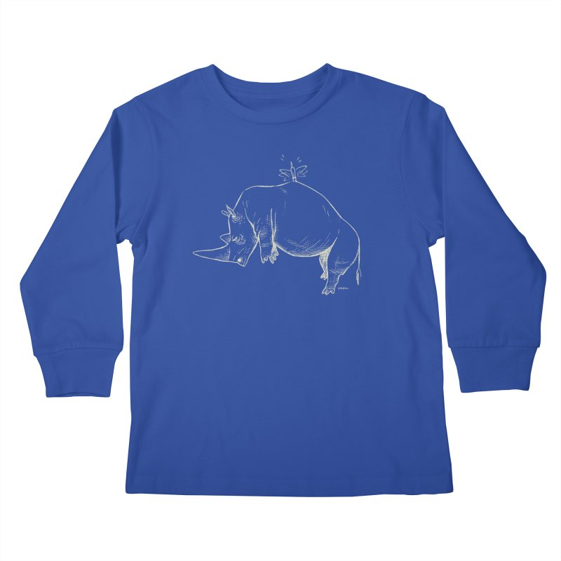HANG IN THERE!! (light-on-dark design) Kids Longsleeve T-Shirt by Dustin Harbin's Sweet T's!