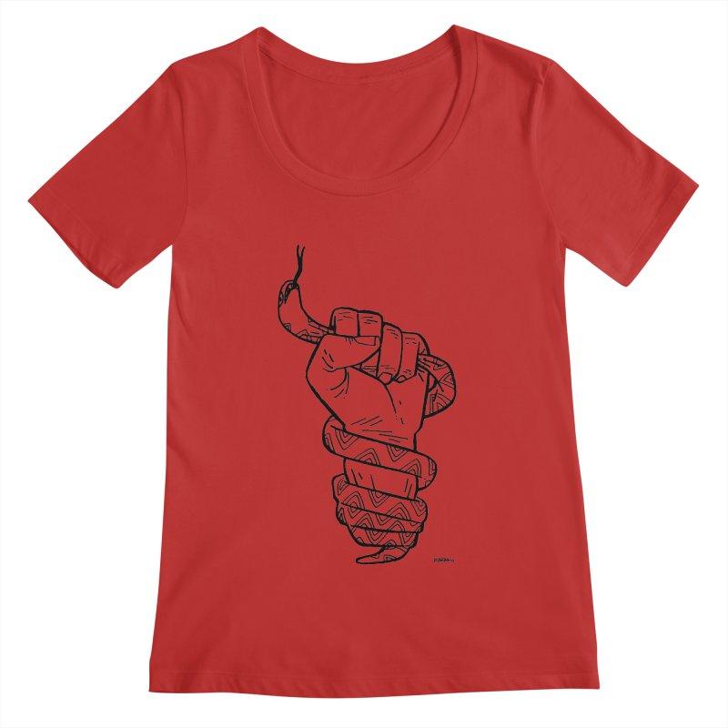 RESIST! Women's Scoopneck by Dustin Harbin's Sweet T's!