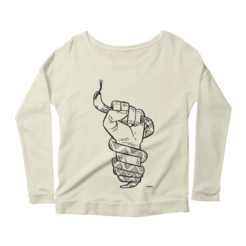 RESIST! Women's Longsleeve Scoopneck  by Dustin Harbin's Sweet T's!