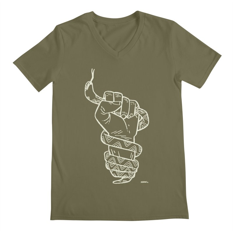 RESIST! (light color) Men's Regular V-Neck by Dustin Harbin's Sweet T's!