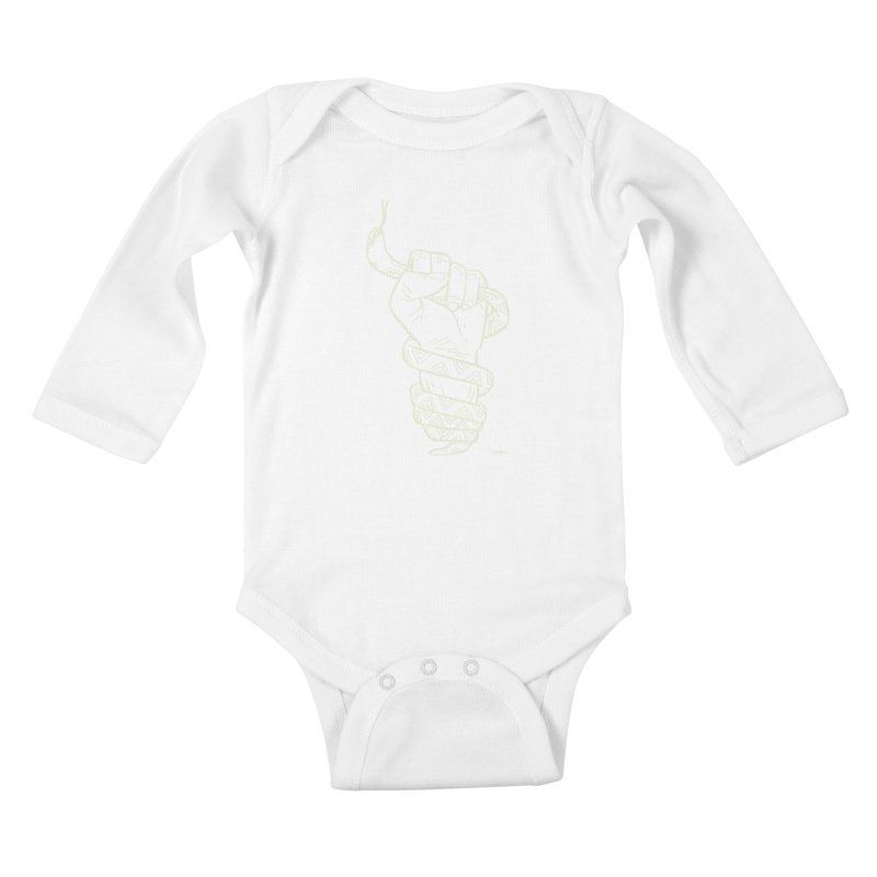 RESIST! (light color) Kids Baby Longsleeve Bodysuit by Dustin Harbin's Sweet T's!