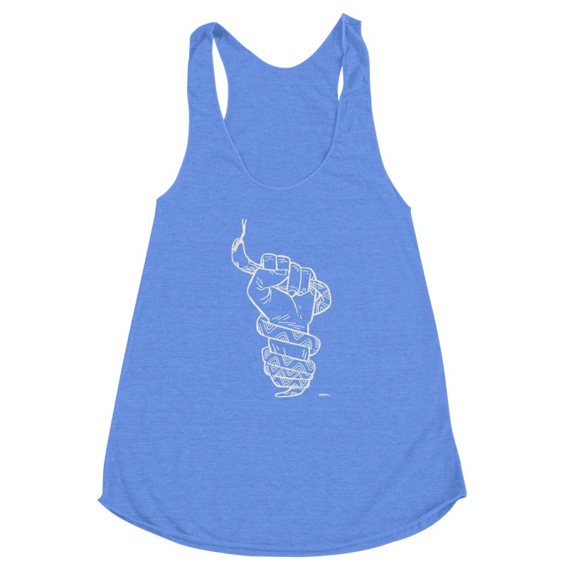 RESIST! (light color) Women's Racerback Triblend Tank by Dustin Harbin's Sweet T's!