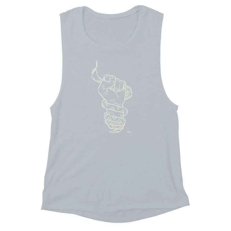 RESIST! (light color) Women's Muscle Tank by Dustin Harbin's Sweet T's!
