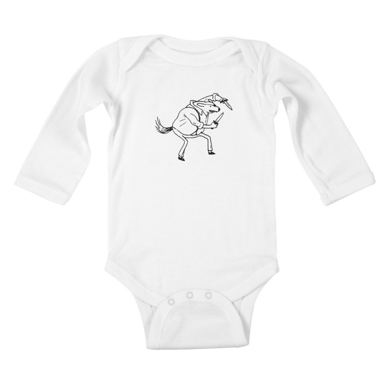 BEWARE OF DOG Kids Baby Longsleeve Bodysuit by Dustin Harbin's Sweet T's!