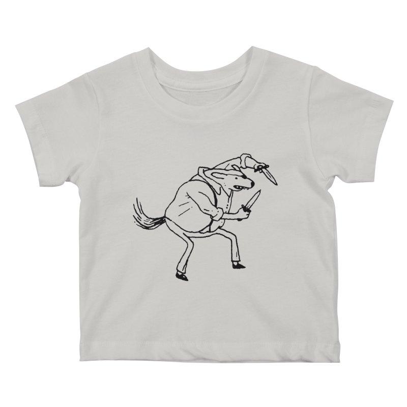 BEWARE OF DOG Kids Baby T-Shirt by Dustin Harbin's Sweet T's!