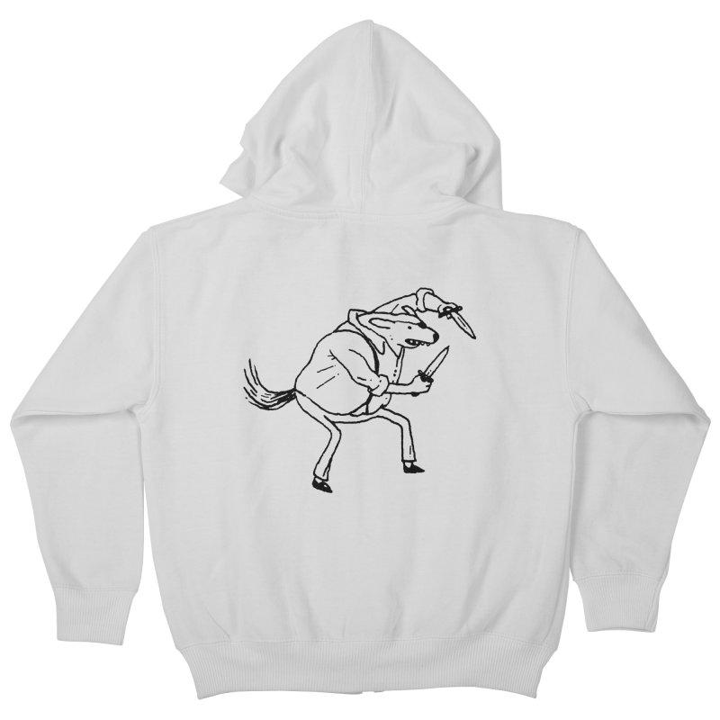 BEWARE OF DOG Kids Zip-Up Hoody by Dustin Harbin's Sweet T's!