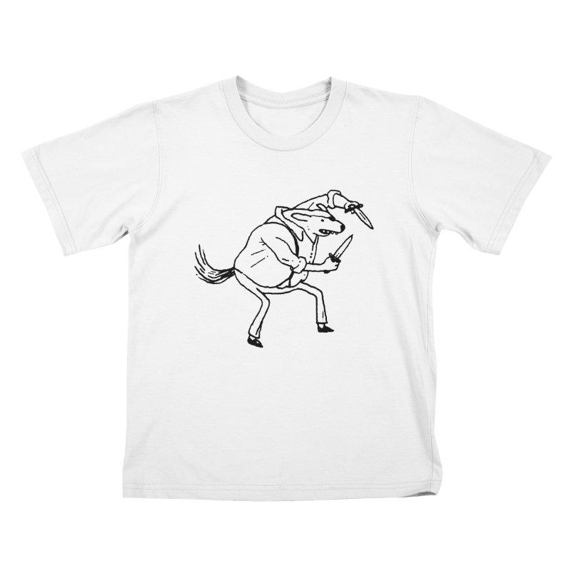 BEWARE OF DOG Kids T-shirt by Dustin Harbin's Sweet T's!