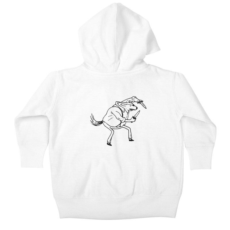 BEWARE OF DOG Kids Baby Zip-Up Hoody by Dustin Harbin's Sweet T's!