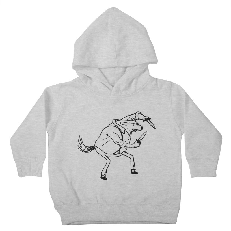 BEWARE OF DOG Kids Toddler Pullover Hoody by Dustin Harbin's Sweet T's!