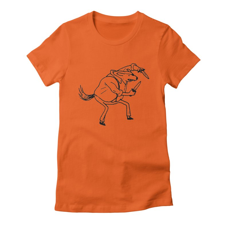BEWARE OF DOG Women's Fitted T-Shirt by Dustin Harbin's Sweet T's!