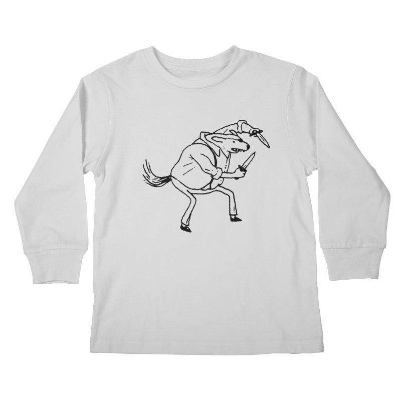 BEWARE OF DOG Kids Longsleeve T-Shirt by Dustin Harbin's Sweet T's!