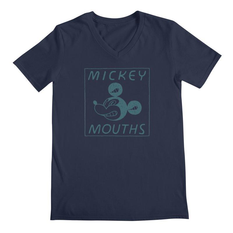 MICKEY MOUTHS Men's V-Neck by Dustin Harbin's Sweet T's!