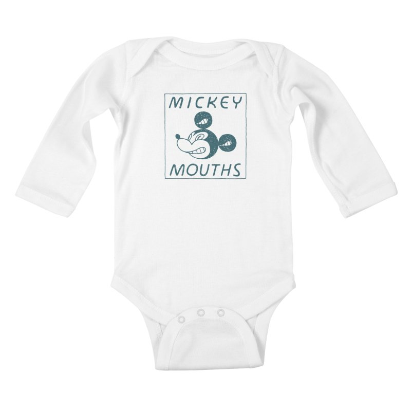 MICKEY MOUTHS Kids Baby Longsleeve Bodysuit by Dustin Harbin's Sweet T's!