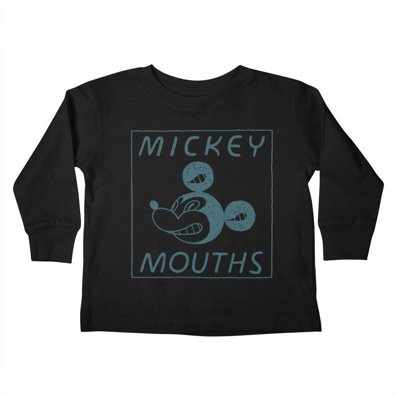 MICKEY MOUTHS Kids Toddler Longsleeve T-Shirt by Dustin Harbin's Sweet T's!