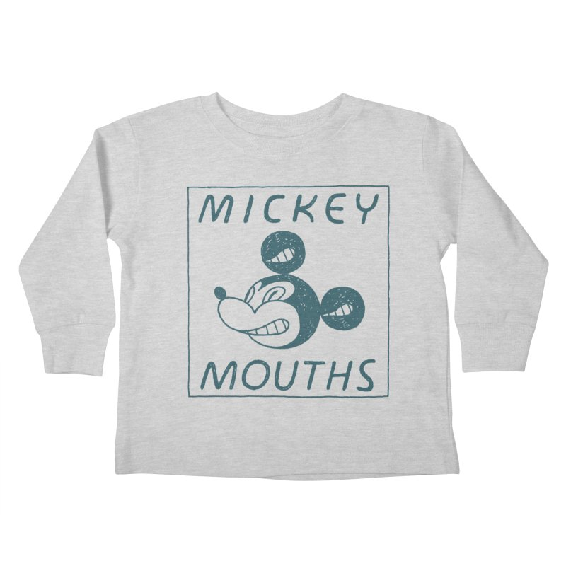 MICKEY MOUTHS Kids Toddler Longsleeve T-Shirt by Dustin Harbin's Sweet T's!