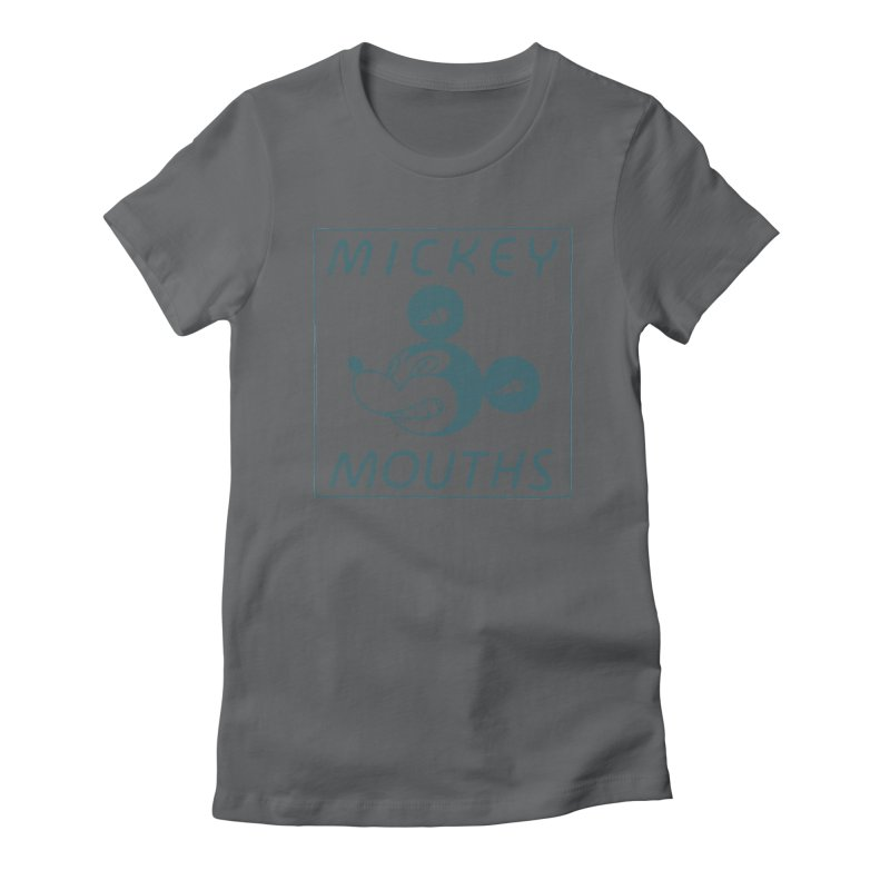 MICKEY MOUTHS Women's Fitted T-Shirt by Dustin Harbin's Sweet T's!
