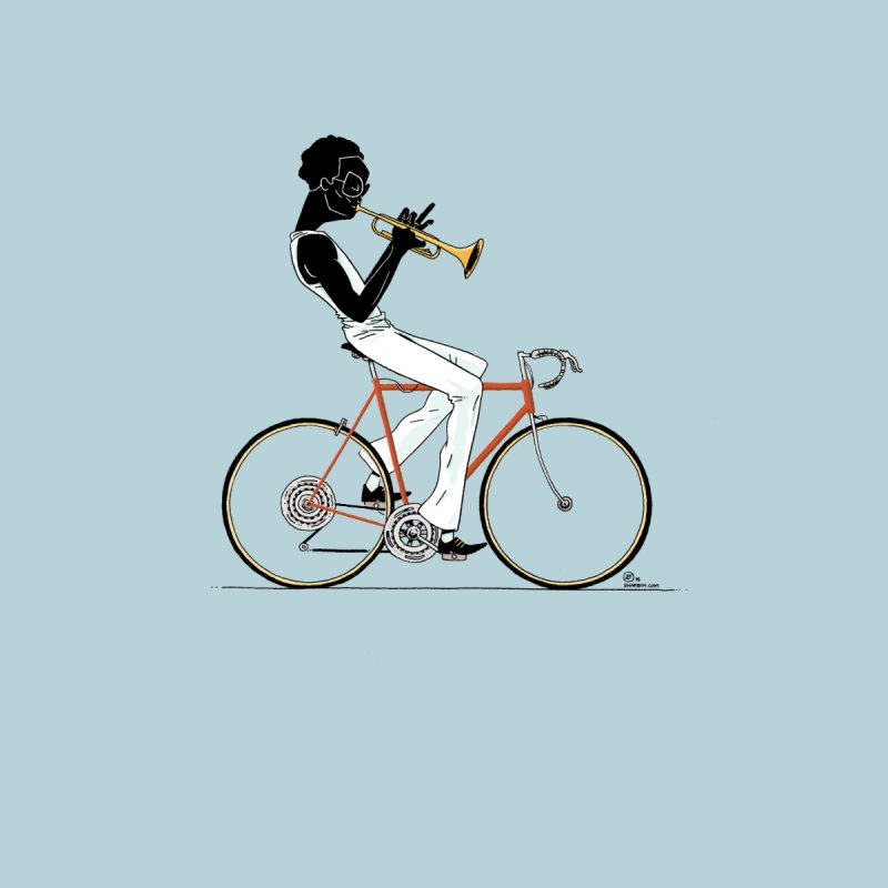 MILES BY BICYCLE Women's Racerback Triblend Tank by Dustin Harbin's Sweet T's!