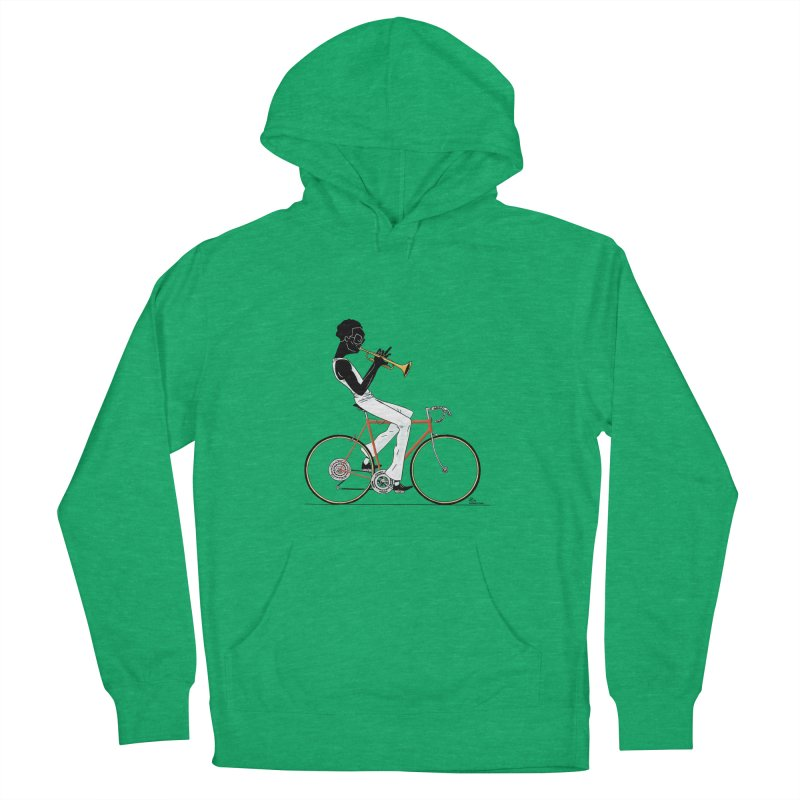 MILES BY BICYCLE Women's French Terry Pullover Hoody by Dustin Harbin's Sweet T's!