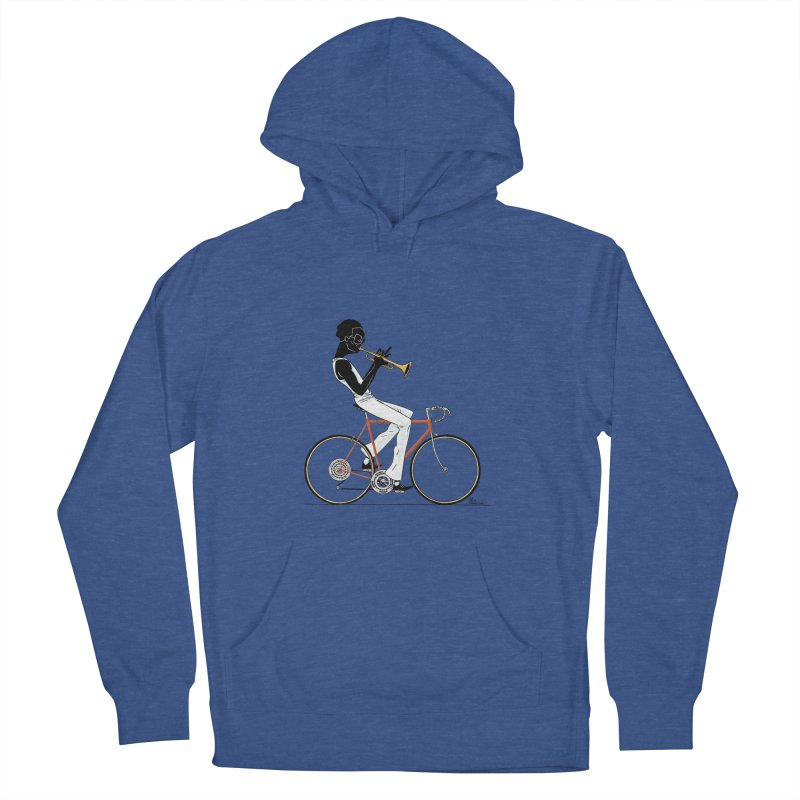MILES BY BICYCLE Men's French Terry Pullover Hoody by Dustin Harbin's Sweet T's!