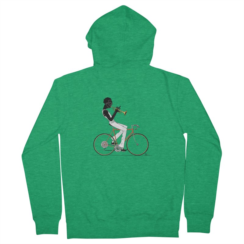 MILES BY BICYCLE Women's Zip-Up Hoody by Dustin Harbin's Sweet T's!