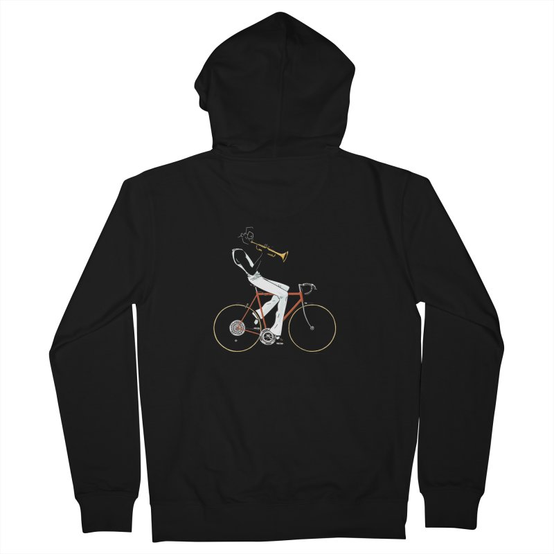 MILES BY BICYCLE Women's French Terry Zip-Up Hoody by Dustin Harbin's Sweet T's!