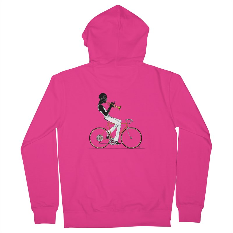 MILES BY BICYCLE Men's Zip-Up Hoody by Dustin Harbin's Sweet T's!