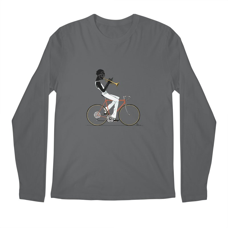 MILES BY BICYCLE Men's Regular Longsleeve T-Shirt by Dustin Harbin's Sweet T's!