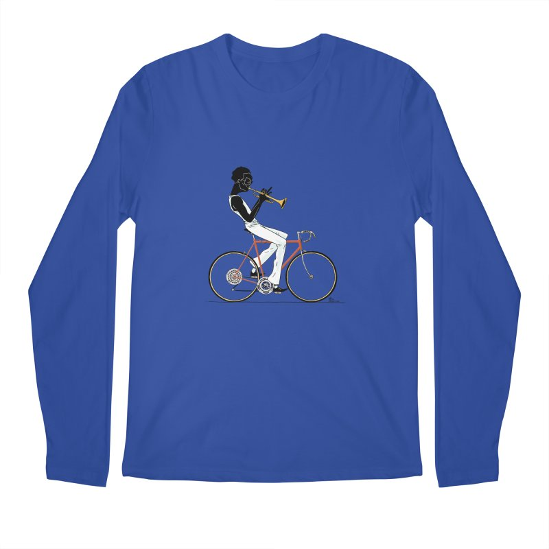 MILES BY BICYCLE Men's Longsleeve T-Shirt by Dustin Harbin's Sweet T's!