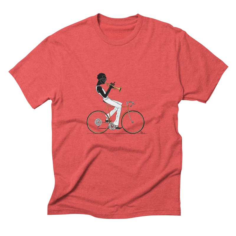 MILES BY BICYCLE Men's Triblend T-Shirt by Dustin Harbin's Sweet T's!