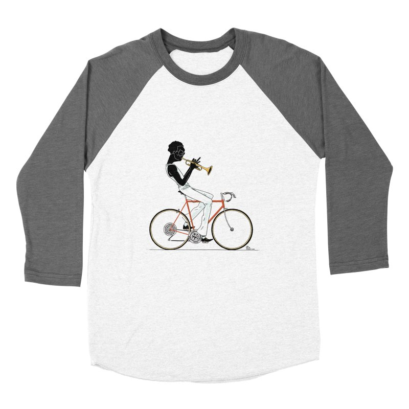 MILES BY BICYCLE Women's Baseball Triblend T-Shirt by Dustin Harbin's Sweet T's!