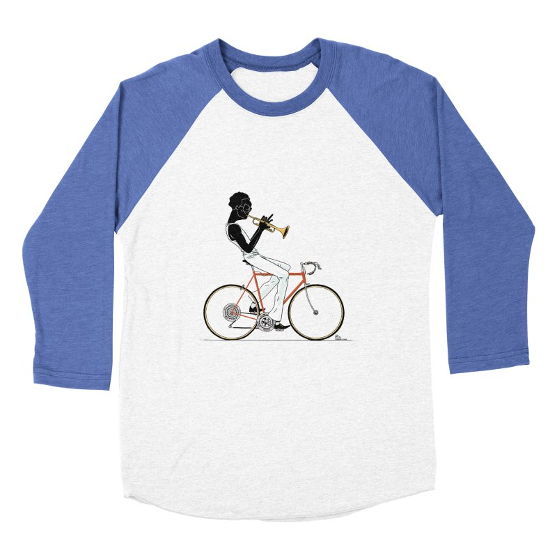 MILES BY BICYCLE Men's Baseball Triblend T-Shirt by Dustin Harbin's Sweet T's!