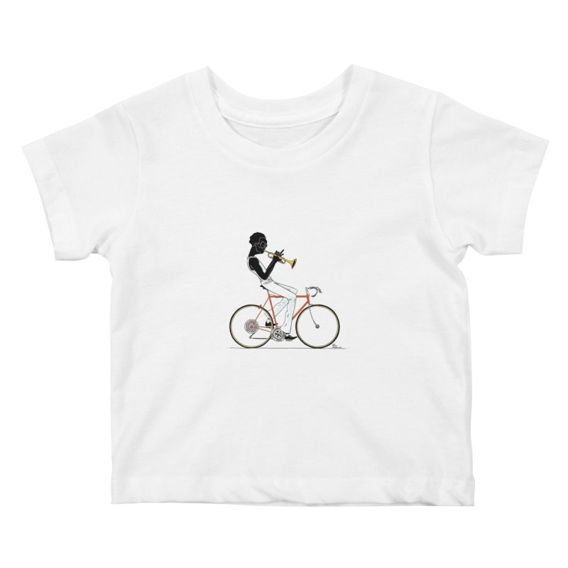 MILES BY BICYCLE Kids Baby T-Shirt by Dustin Harbin's Sweet T's!