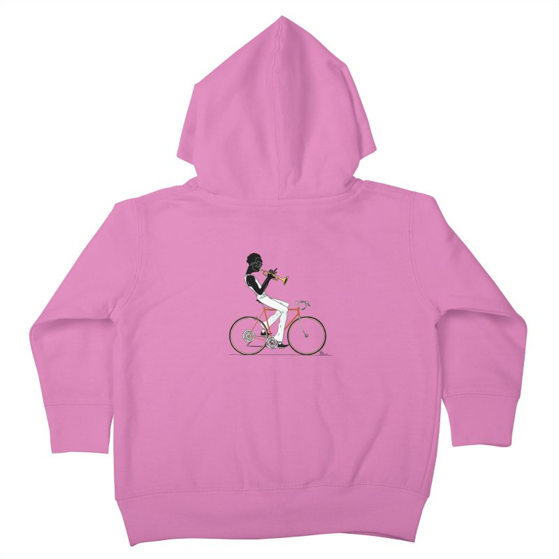 MILES BY BICYCLE Kids Toddler Zip-Up Hoody by Dustin Harbin's Sweet T's!