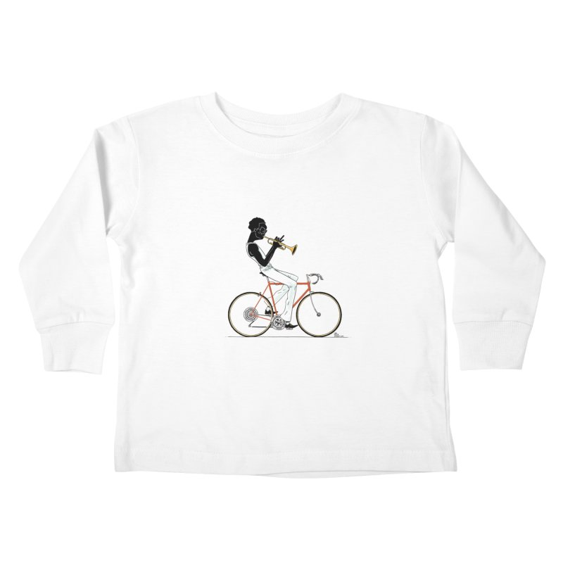 MILES BY BICYCLE Kids Toddler Longsleeve T-Shirt by Dustin Harbin's Sweet T's!