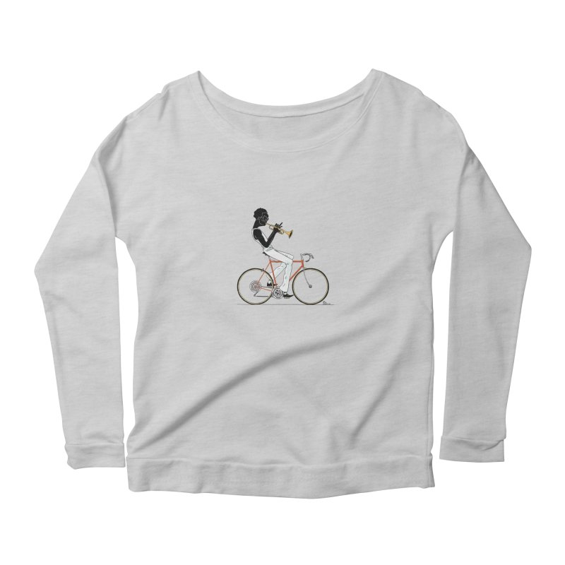 MILES BY BICYCLE Women's Longsleeve Scoopneck  by Dustin Harbin's Sweet T's!