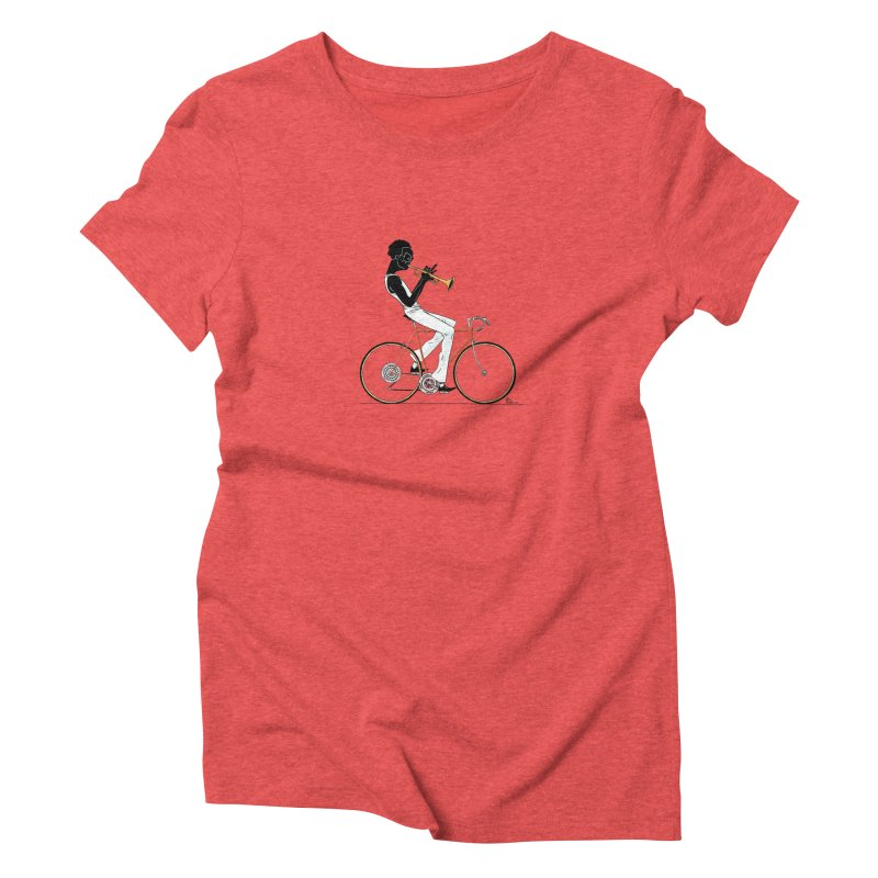 MILES BY BICYCLE Women's Triblend T-Shirt by Dustin Harbin's Sweet T's!