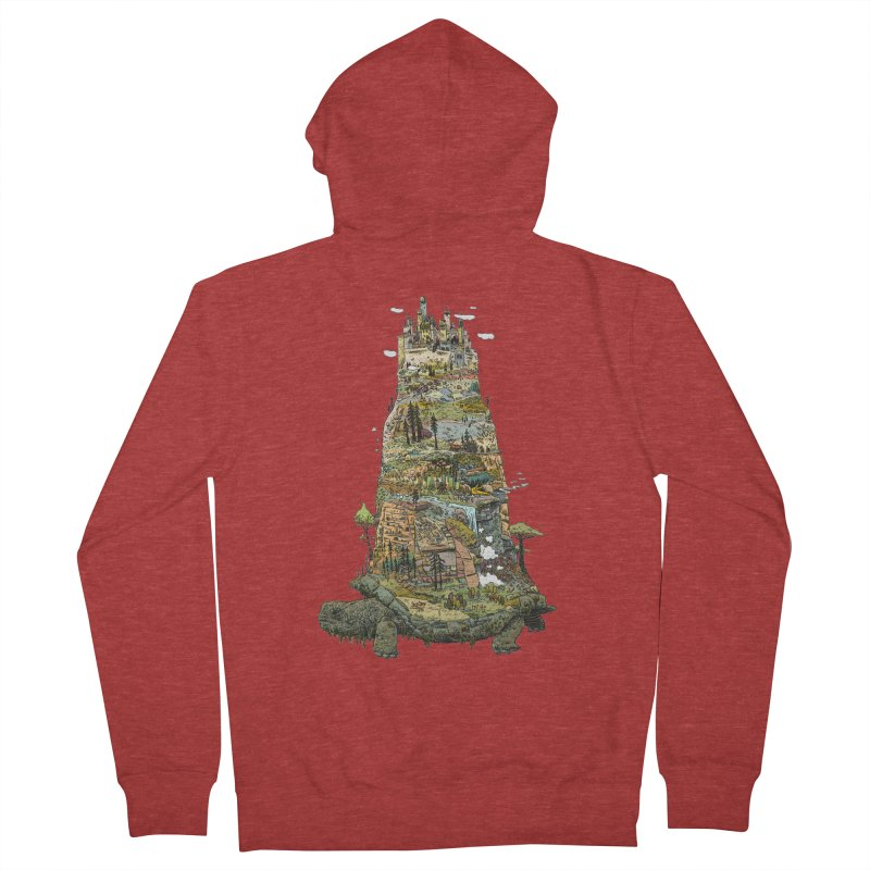 THE TORTOISE. Men's French Terry Zip-Up Hoody by Dustin Harbin's Sweet T's!