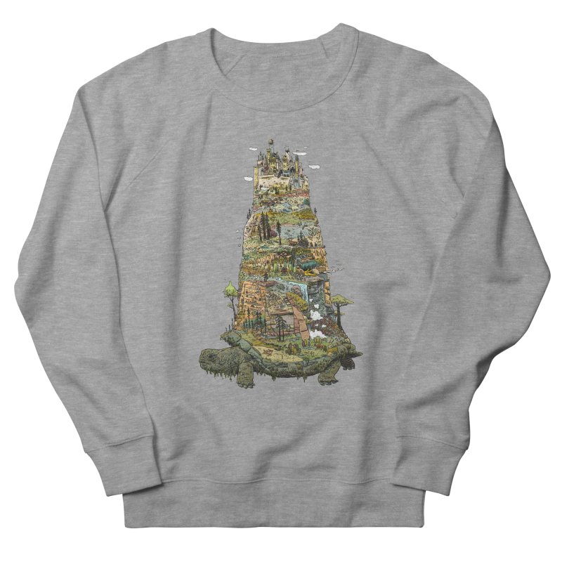 THE TORTOISE. Men's French Terry Sweatshirt by Dustin Harbin's Sweet T's!